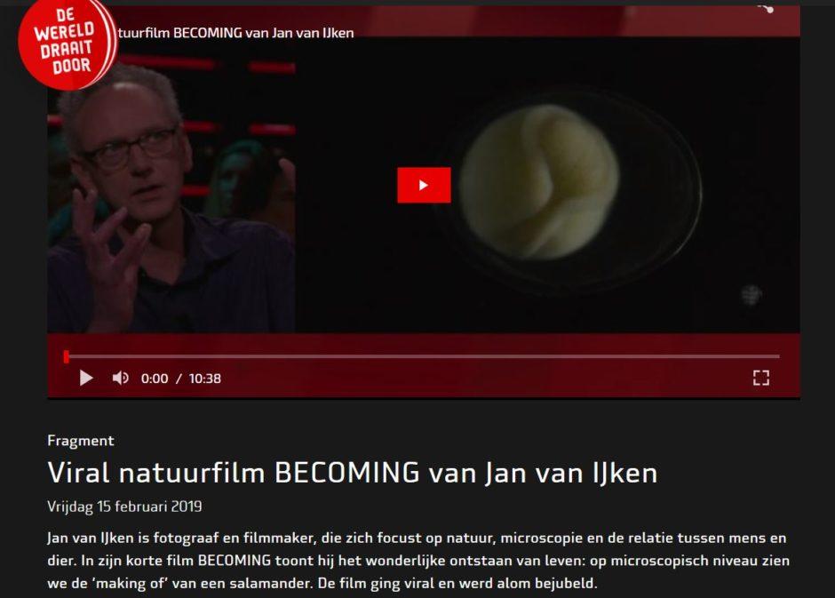 Interview and screening at the Dutch TV show DWDD De Wereld Draait Door